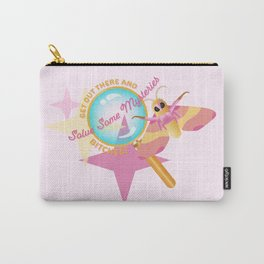 Solve Some Mysteries! Rosy Maple Moth - Perhaps It's You Podcast Fan Art Carry-All Pouch