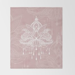 Blush mandala Throw Blanket