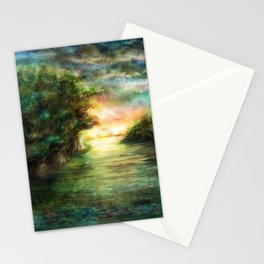 Sunset painting 1 Stationery Cards