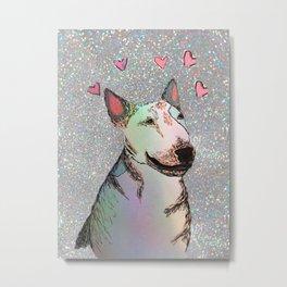 Glitter Bull Terrier Metal Print