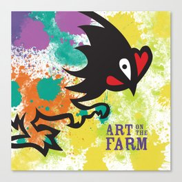 Splatter Art on the Farm Canvas Print