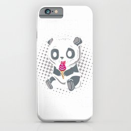 I Licked It So Its Mine Panda Shirt iPhone Case
