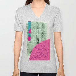abstract collage Unisex V-Neck