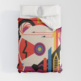 NASA Retro Space Travel Poster #9 Mars Comforters