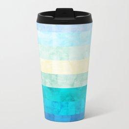 Geometric vibrant landscape Travel Mug