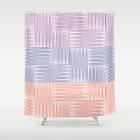 herringbone Shower Curtains featuring Herringbone by guapa.