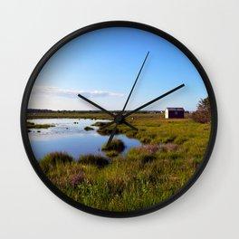 Marshy Meadows Wall Clock