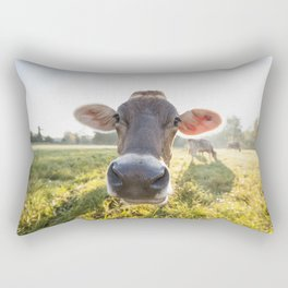 Brown Swiss Cow Rectangular Pillow
