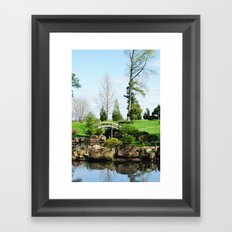 Bridge over untroubled waters Framed Art Print