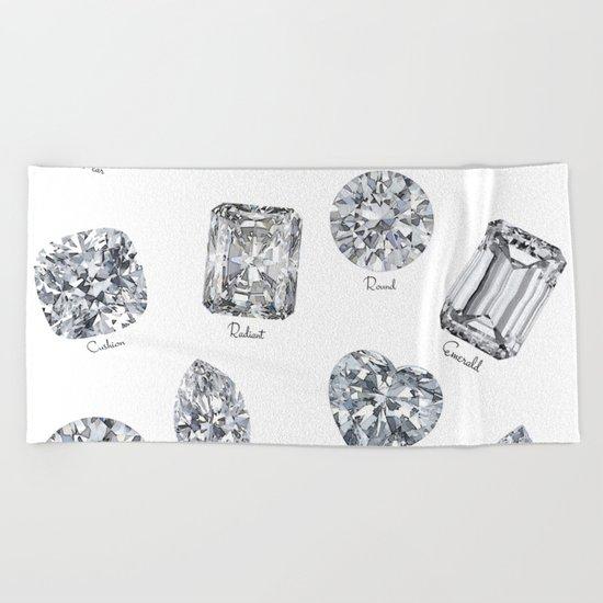 Diamonds pattern Beach Towel