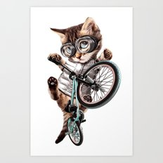BMX CAT Art Print