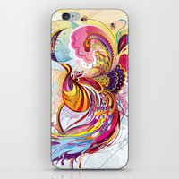 phoenix iPhone & iPod Skins featuring Phoenix by Nick La