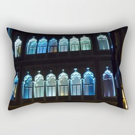 Blue Windows Rectangular Pillow