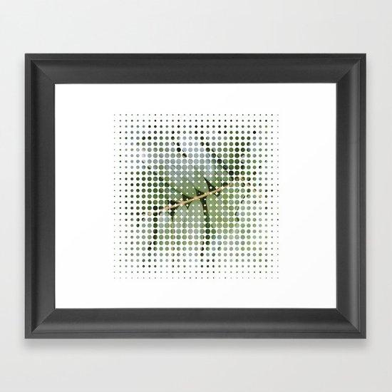 mesh white Framed Art Print