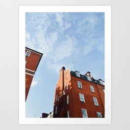 Classic London Brick House Art Print