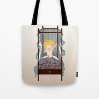 chibi Tote Bags featuring Chibi by Lily Art