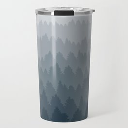 Blue Ombré Forest Travel Mug
