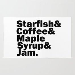 Starfish & Coffee & Maple Syrup & Jam 2 Rug