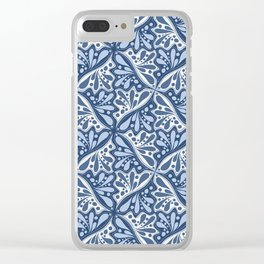 Leaf or Hummingbird in Blue Clear iPhone Case