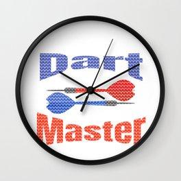Dart Master Fun Darts Lover Pattern Wall Clock