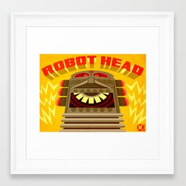 Robot Head Framed Art Print