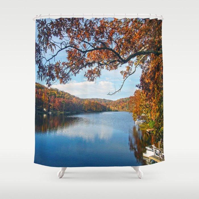 Autumn at Lake Killarney Shower Curtain
