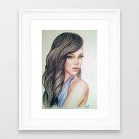 rihanna Framed Art Prints featuring RIHANNA by Hileeery