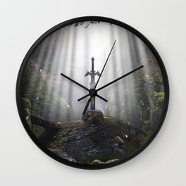 Master Sword in Ruins (Breath of the Wild) Wall Clock