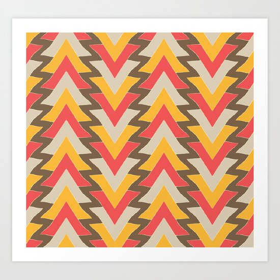 My triangles in red. Art Print