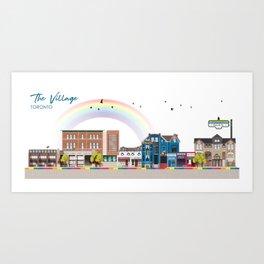 The Village - Toronto Neighbourhood Art Print