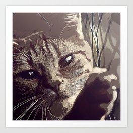set your cat free vector art natural Art Print