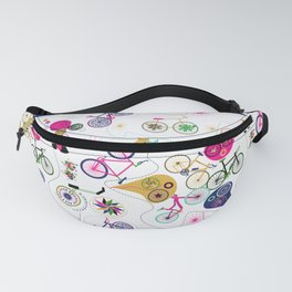 Cycledelic White Fanny Pack