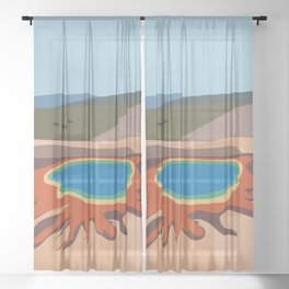 Grand Prismatic Spring, Yellowstone National Park, Wyoming, USA Sheer Curtain