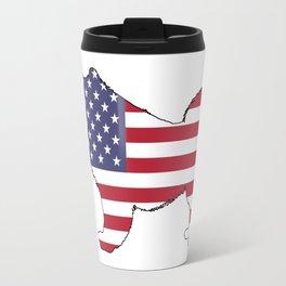 "Samoyed ""American Flag"" Travel Mug"