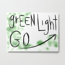 Green Light Go Metal Print
