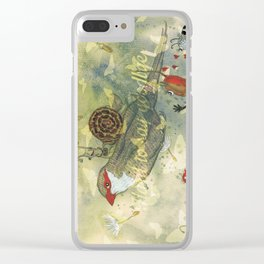 Hard to say goodbye. Clear iPhone Case