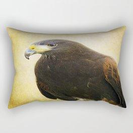 A Harris Hawk Rectangular Pillow