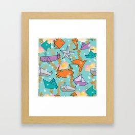 Origami Ocean Framed Art Print