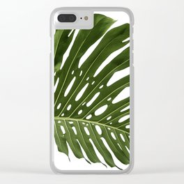 Monstera deliciosa Clear iPhone Case