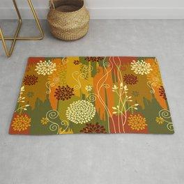 Boho Floral Pattern Rug