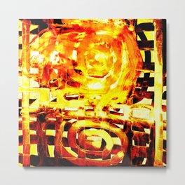 Let's melt the lattice door ! Metal Print