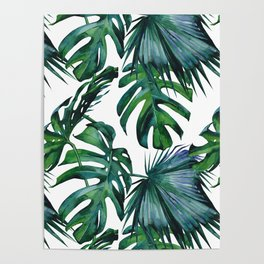 Tropical Palm Leaves Classic Poster