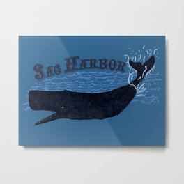 Sag Harbor Whale Metal Print