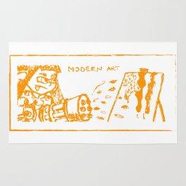 Modern art (splatoon) Rug