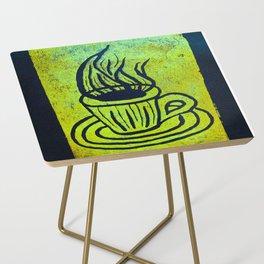 Original Linocut Art By Gina Lee Ronhovde Side Table
