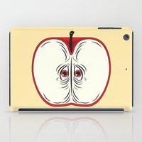 anxiety iPad Cases featuring Anxiety Apple by Nicholas Ely