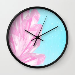 Sparkly Pinky Crystals Design Wall Clock