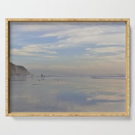 Photography - Misty Reflection at Torrey Beach Serving Tray