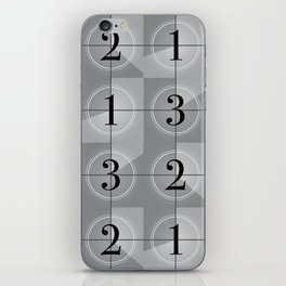 321 Cinema // Old Film Countdown iPhone Skin