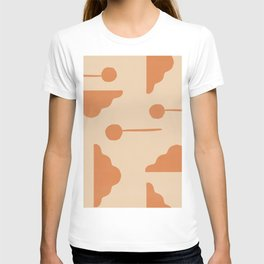 Clouds and lollipops - earth tones version T-shirt